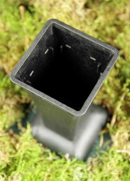 Avaseo Standvase 1, eckig, mit Einsatz rund, schwarz