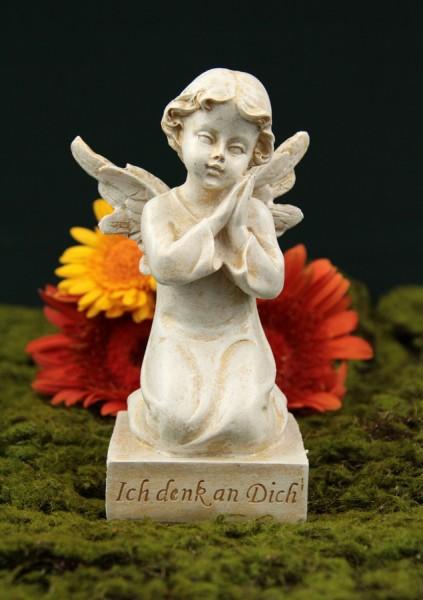 "Grabengel auf Sockel, ""Ich denke an Dich"", 16 cm"