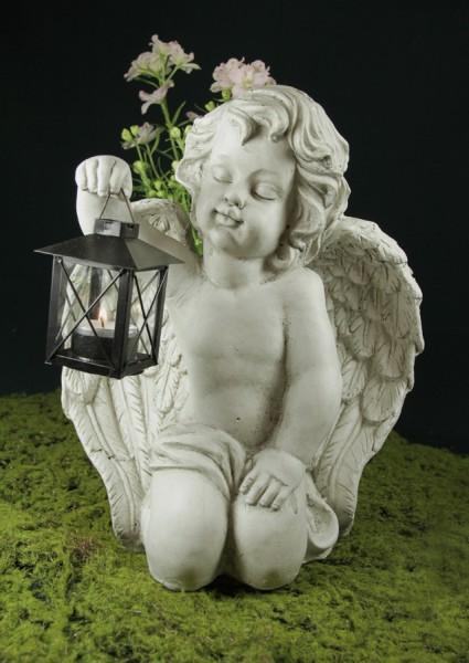 Grabengel mit Laterne für Teelicht