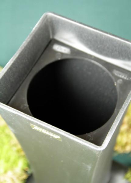 Avaseo Standvase 4, eckig, mit Einsatz rund, schwarz