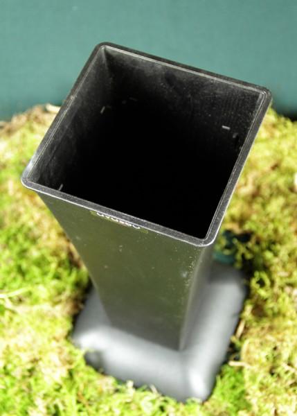 Avaseo Standvase 3, eckig, mit Einsatz rund, schwarz
