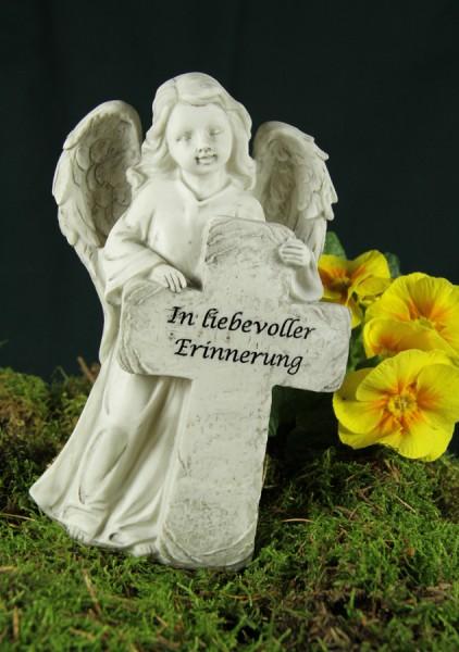 """Grabengel mit Kreuz, """"In liebevoller Erinnerung"""""""