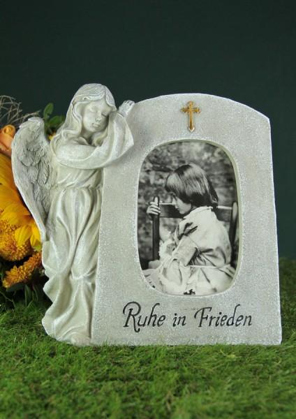 """Grabengel an Stein, für Foto, """"Ruhe in Frieden"""""""