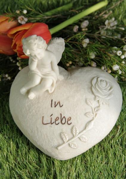"""Grabherz mit Engel """"In Liebe"""""""