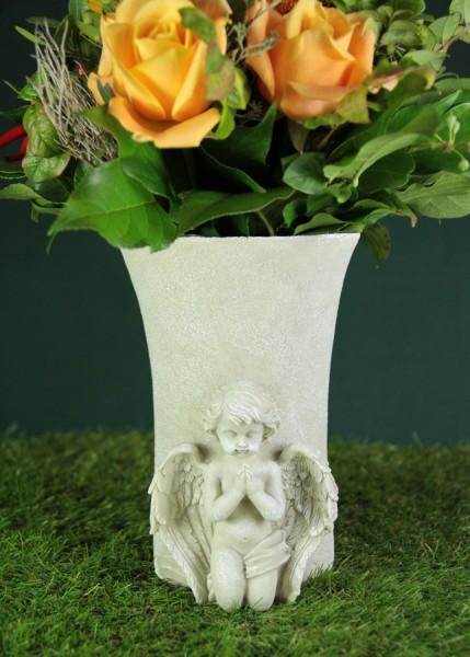 Grabengel mit Blumenvase