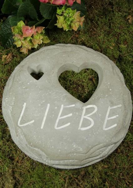 """Grabtafel mit Herzen """"Liebe"""""""