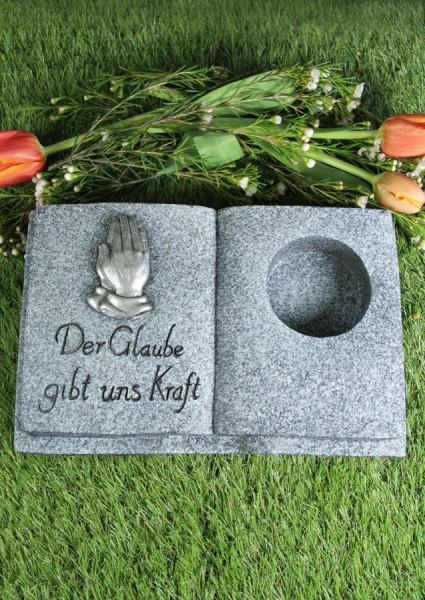 """Grabbuch für Grablicht, """"Der Glaube gibt uns Kraft"""""""