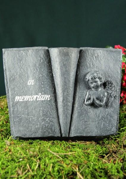 "Grabbuch mit Vase, ""In memoriam"""