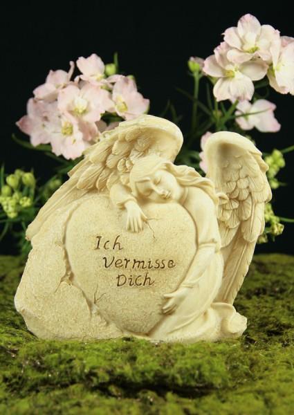 """Grabengel mit Herz, """"Ich vermisse Dich"""""""